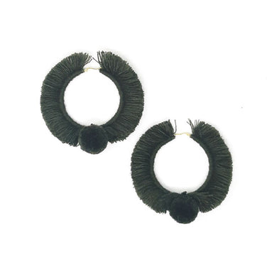 TONATI HOOP EARRINGS OLIVE