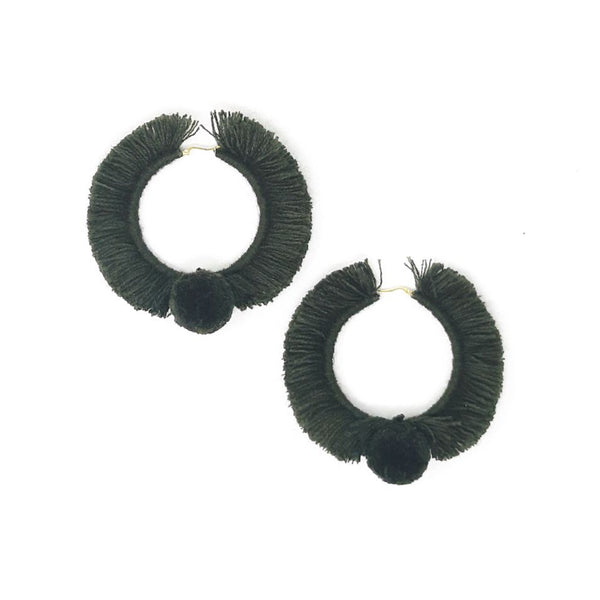 HOOP EARRINGS TONATI OLIVE