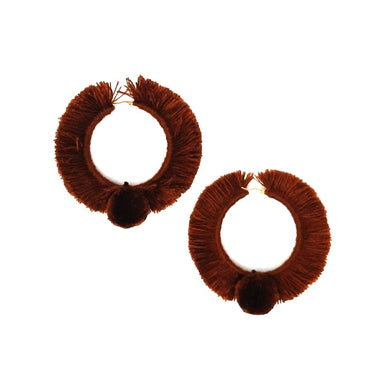 TONATI HOOP EARRINGS BROWN