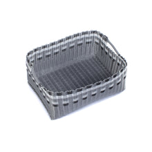 Load image into Gallery viewer, ALMA HOME BASKET SILVER LINES L