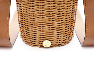 WOVEN LEATHER BUCKET PERSIAN