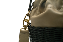 Load image into Gallery viewer, WOVEN LEATHER BUCKET NERO