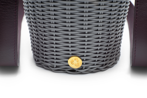 WOVEN LEATHER BUCKET PLATA