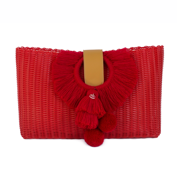 TONATI OVERSIZED CLUTCH RED