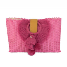 Load image into Gallery viewer, TONATI OVERSIZED CLUTCH FUCSIA