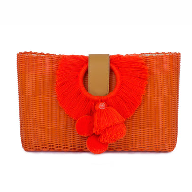 TONATI OVERSIZED CLUTCH ORANGE