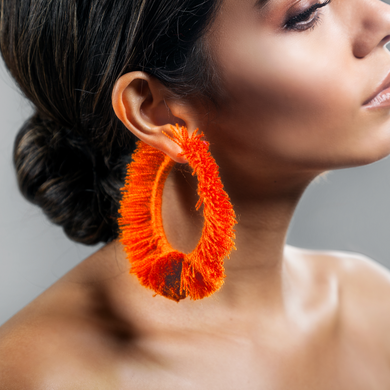 TONATI HOOP EARRINGS ORANGE