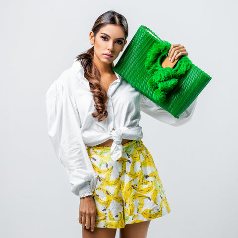 TONATI OVERSIZED CLUTCH GREEN