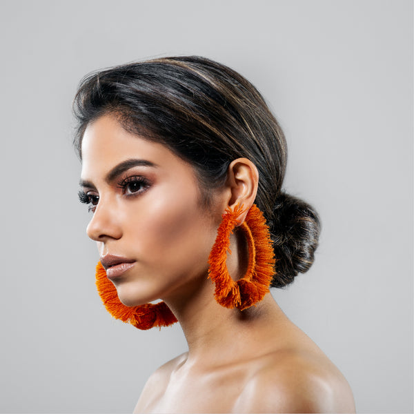 HOOP EARRINGS TONATI CARAMEL