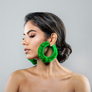 TONATI HOOP EARRINGS GREEN