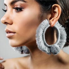 Load image into Gallery viewer, TONATI HOOP EARRINGS SILVER