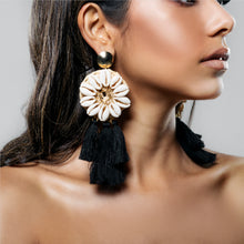 Load image into Gallery viewer, NEON REEF EARRING BLACK