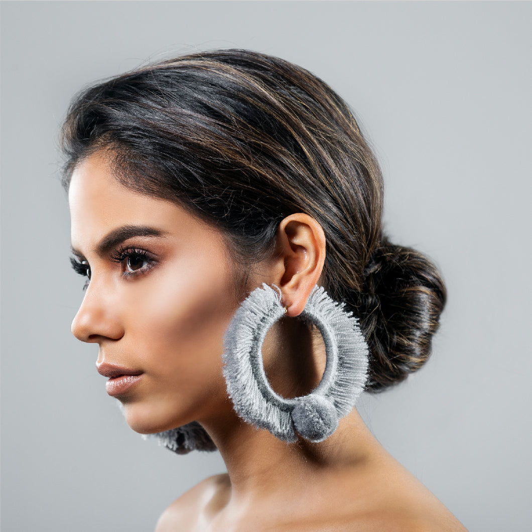 TONATI HOOP EARRINGS SILVER