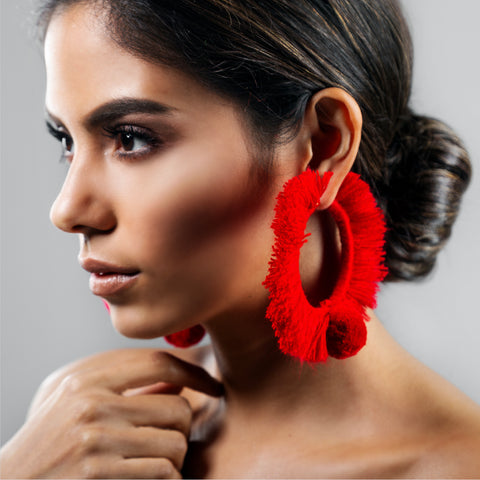 HOOP EARRINGS TONATI RED