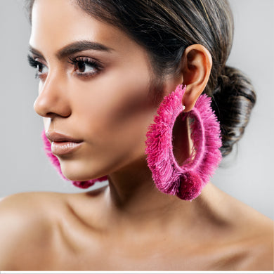 HOOP EARRINGS TONATI PINK