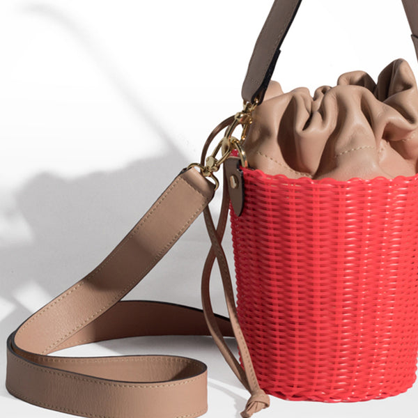 WOVEN LEATHER BUCKET ELECTRIC