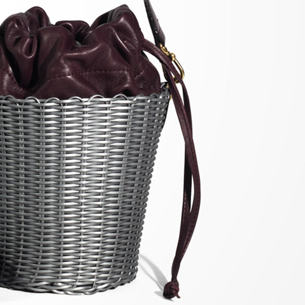 WOVEN LEATHER BUCKET
