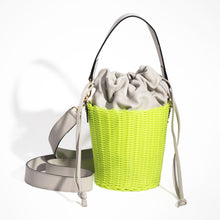 Load image into Gallery viewer, WOVEN LEATHER BUCKET LIMONE