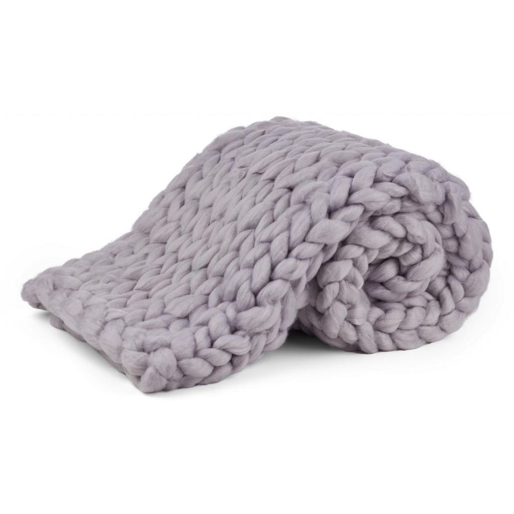 Chunky Knit Plaid i Mohair fra Natures Collection i Flere Farver, 90x120cm
