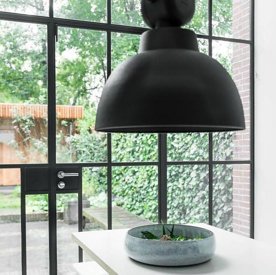 Muubs Factory Pendel el Loftslampe i Mat Sort Ø50