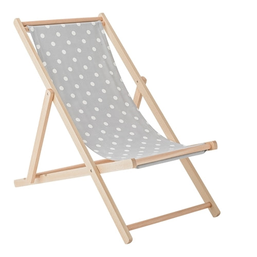 Deck Chair Foldestol fra Bloomingville, Grå/Kit - InteriorFlirt