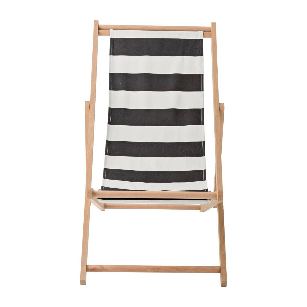 Deck Chair Foldestol fra Bloomingville, Sort/Kit