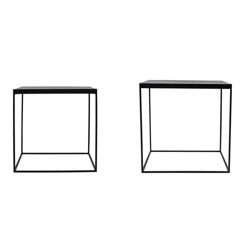 Sidney Sidetables Set Of 2 Black - InteriorFlirt