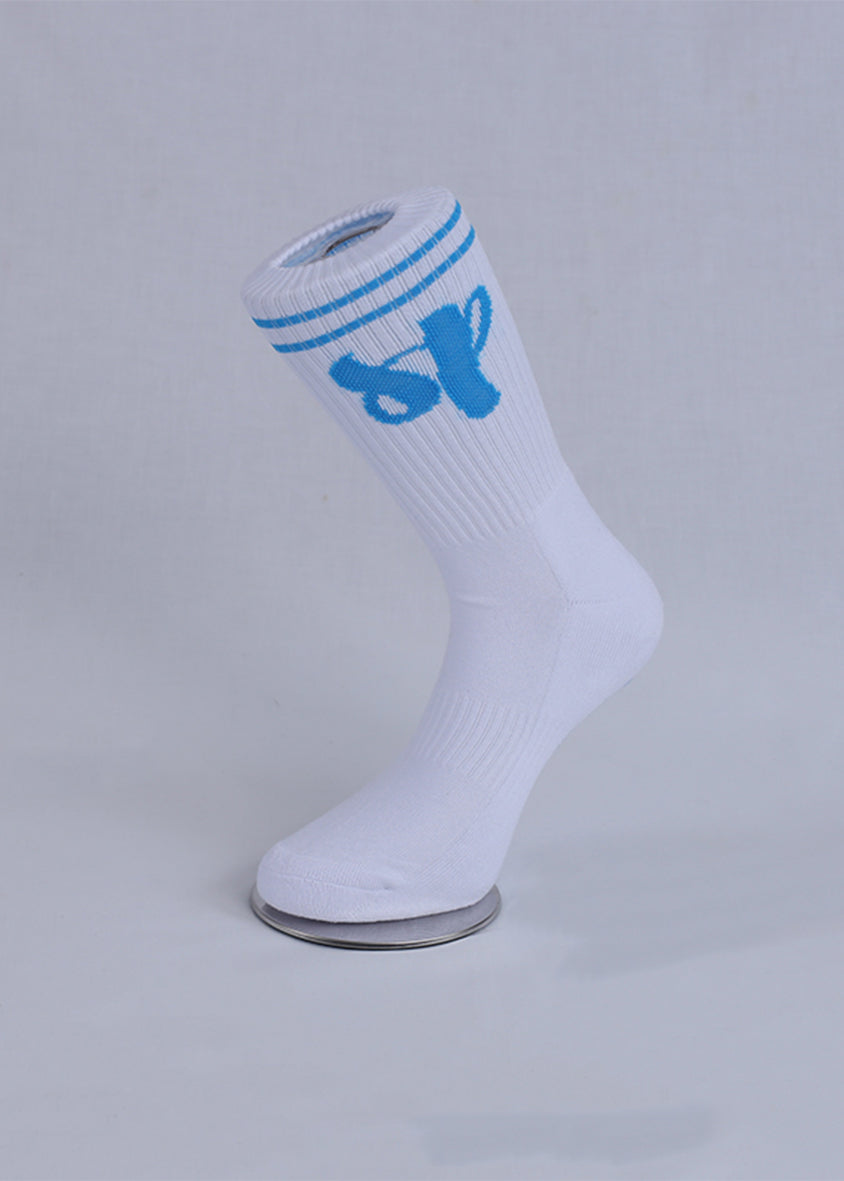 White Collegiate Sports Socks