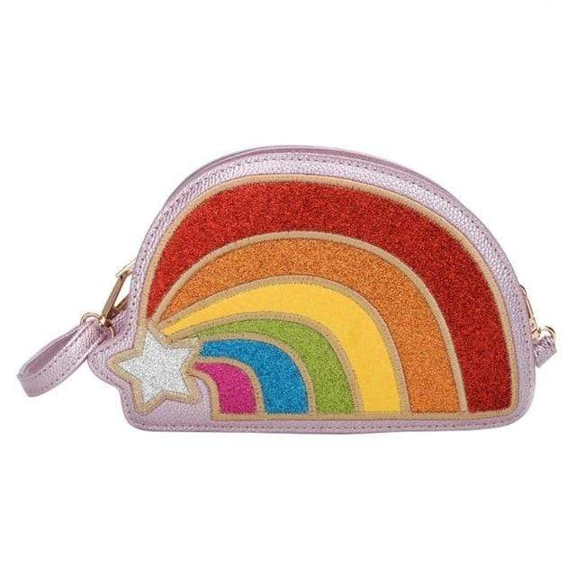 So Kawaii Shop Pink The Kawaii Rainbow Glitter Clutch Handbag 23349344-02