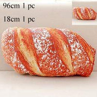 So Kawaii Shop 2 pcs Rustic Italian Bread Long Butter Bread Meat floss Sesame Pizza Beefsteak Pillows Food Plush Pillow Simulated Snack Decoration Backrest Cushion 24958779-2-pcs-meat-floss