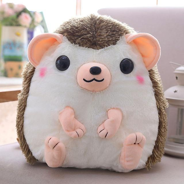 So Kawaii Shop 30x28cm / Chocolate Kawaii Hedgehog Plush Backpack 28097361-30x28cm-khaki