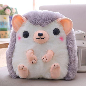 So Kawaii Shop 30x28cm / Gray Kawaii Hedgehog Plush Backpack 28097361-30x28cm-gray