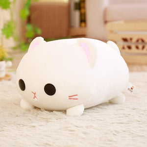 So Kawaii Shop 35cm / White Kawaii Lying Cat Plush Pillow 17997501-35cm-white