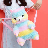 So Kawaii Shop 40cm / Rainbow Kawaii Alpaca Plush Backpack 23824002-40cm-colorful