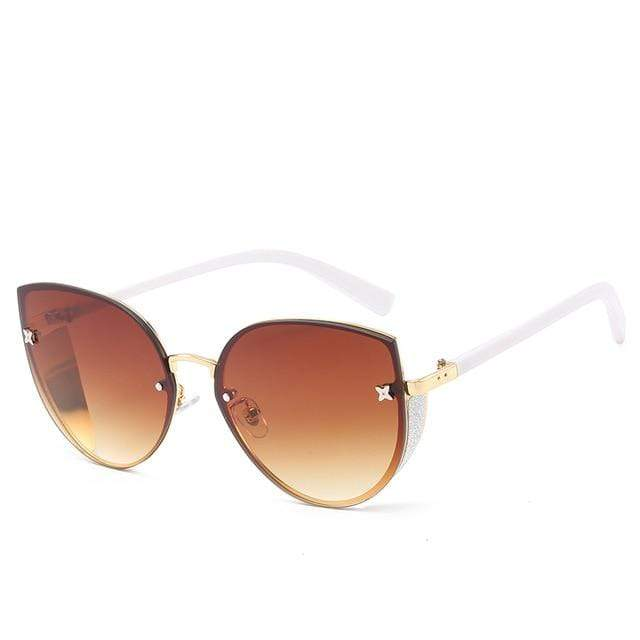 So Kawaii Shop amber The Cute Vintage Cat Eye Sunglasses 24657442-3