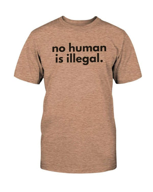 Fuel Apparel Bella + Canvas Unisex T-Shirt / Heather Peach / S No human is illegal 01-FBB489-S