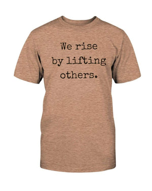 Fuel Apparel Bella + Canvas Unisex T-Shirt / Heather Peach / XL we rise by lifting others 01-FBB489-XL