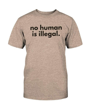 Fuel Apparel Bella + Canvas Unisex T-Shirt / Heather Prism Peach / S No human is illegal 01-FCD7BC-S