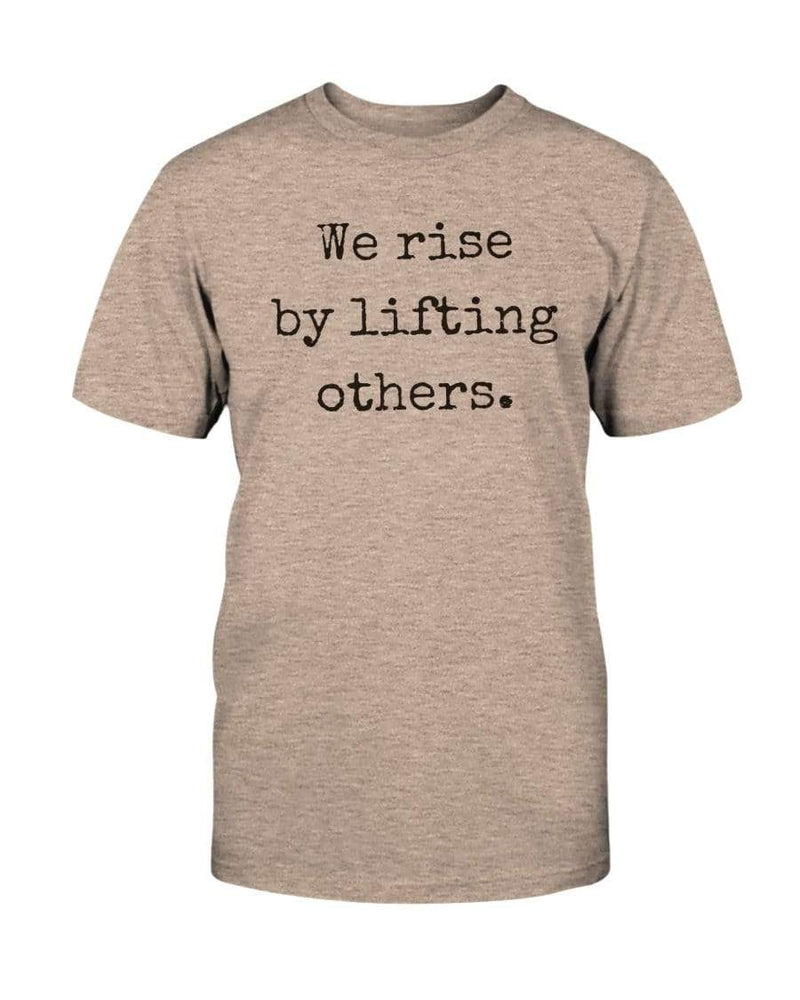 Fuel Apparel Bella + Canvas Unisex T-Shirt / Heather Prism Peach / S we rise by lifting others 01-FCD7BC-S