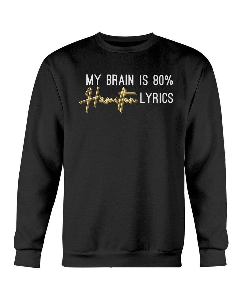 Fuel Apparel Gildan Sweatshirt - Crew / Black / S 80% hamilton lyrics sweatshirt adult fuel FUEL-55451B6