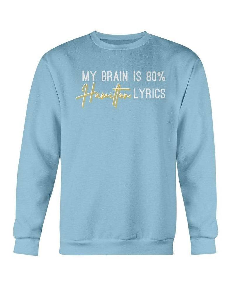 Fuel Apparel Gildan Sweatshirt - Crew / Carolina Blue / S 80% hamilton lyrics sweatshirt adult fuel FUEL-F454524