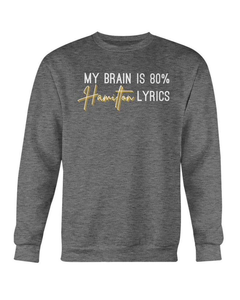 Fuel Apparel Gildan Sweatshirt - Crew / Dark Heather / S 80% hamilton lyrics sweatshirt adult fuel FUEL-D44FB91