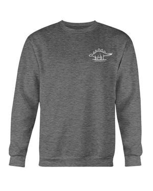 Fuel Apparel Gildan Sweatshirt - Crew / Dark Heather / S stegasaurus pocket fuel FUEL-D921445