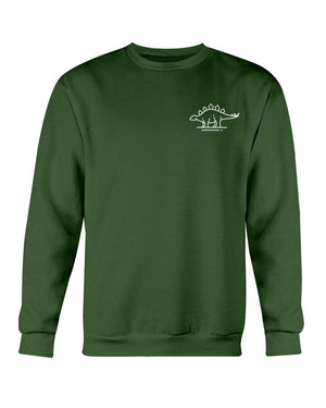 Fuel Apparel Gildan Sweatshirt - Crew / Forest Green / S stegasaurus pocket fuel FUEL-235DC12