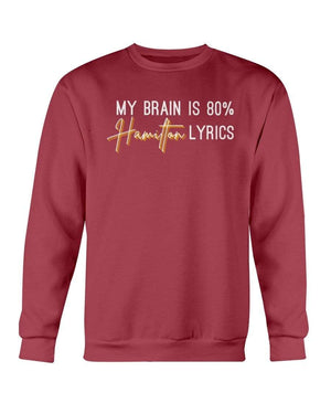 Fuel Apparel Gildan Sweatshirt - Crew / Garnet / S 80% hamilton lyrics sweatshirt adult fuel FUEL-5535FAB