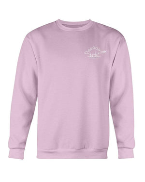 Fuel Apparel Gildan Sweatshirt - Crew / Light Pink / S stegasaurus pocket fuel FUEL-C6549A4