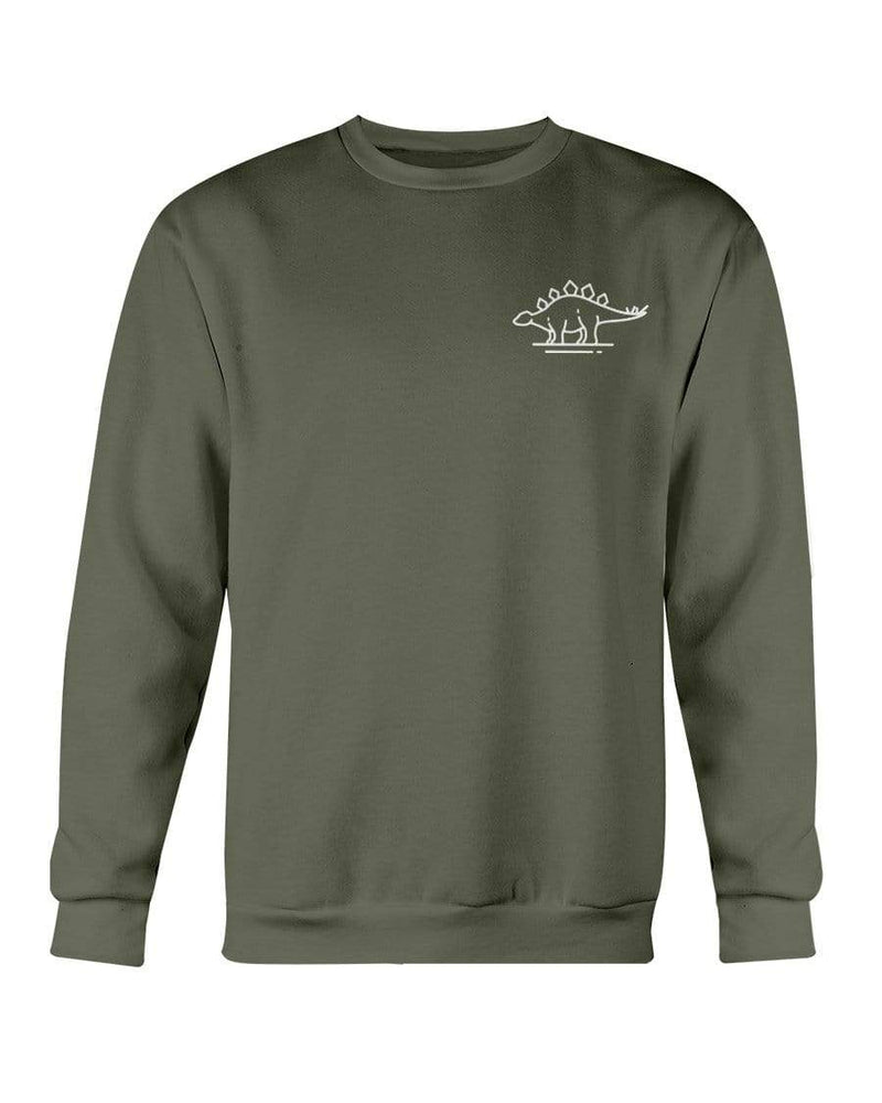 Fuel Apparel Gildan Sweatshirt - Crew / Military Green / S stegasaurus pocket fuel FUEL-6304B85