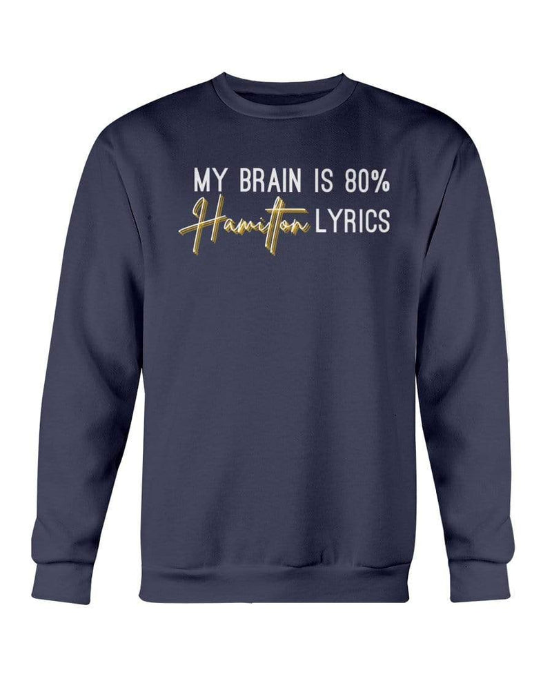 Fuel Apparel Gildan Sweatshirt - Crew / Navy / S 80% hamilton lyrics sweatshirt adult fuel FUEL-FEDA791