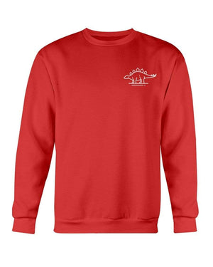 Fuel Apparel Gildan Sweatshirt - Crew / Red / S stegasaurus pocket fuel FUEL-D38ACC7
