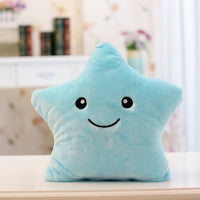 So Kawaii Shop Approx 40 x 35cm / Blue Kawaii Colorful Stars LED Night Light Plush 3192542-approx-40-x-35cm-blue